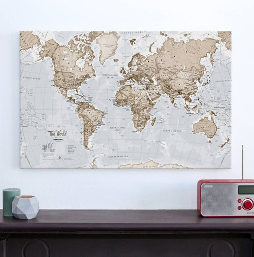 Canvas Art World Map