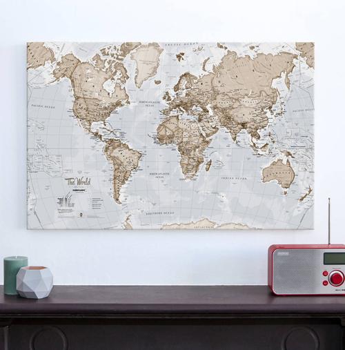 Canvas Art World Map