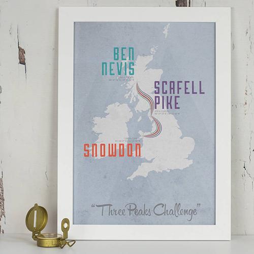 Three Peaks Challenge Print
