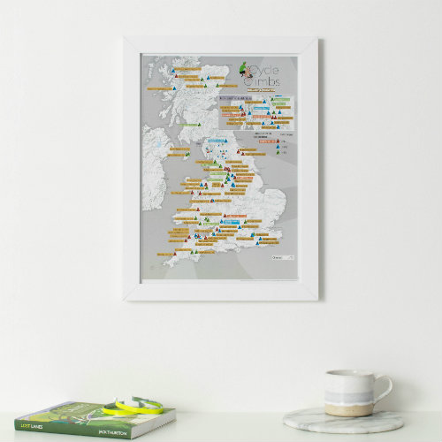 Collect & Scratch UK Cycle Climbs Print