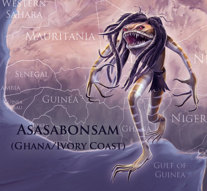 Mythical Monsters Asasabonsam - Ghana