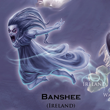 Mythical Monsters Banshee - Ireland
