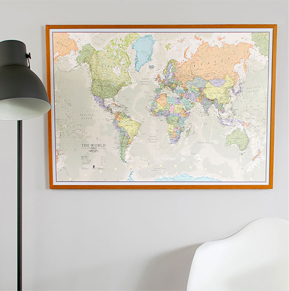 5 world maps to bring home this autumn and how to make it hygge classic world map gumiabroncs Images