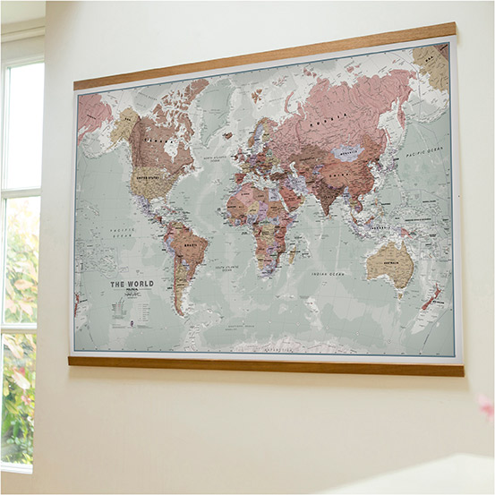 5 world maps to bring home this autumn and how to make it hygge executive world map gumiabroncs Images