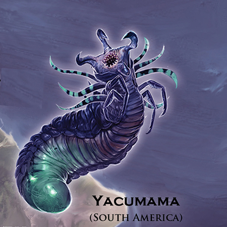 Mythical Monsters Yacumama - South America