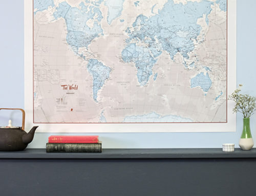 Wall Maps that make perfect gifts this Christmas