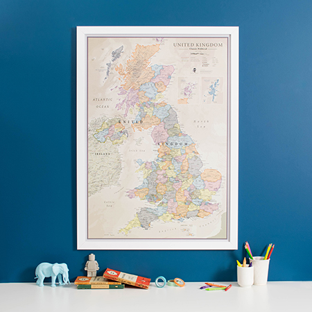 UK Personalised Classic map