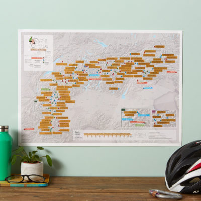 Scratch Off Alpine Cycle Climbs image