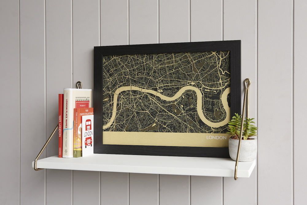 London City Street Map Print (Straw)