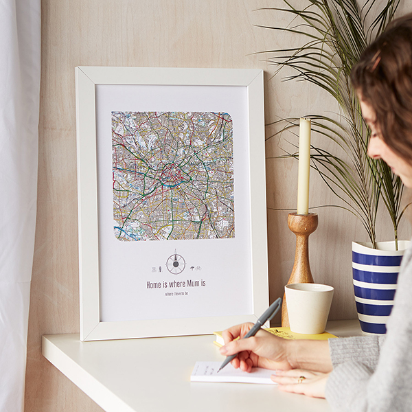 Personalised Postcode Map UK