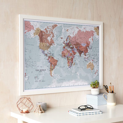 Christmas-Decor-Tips-Executive-World-Map