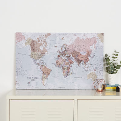 Executive World Map Canvas