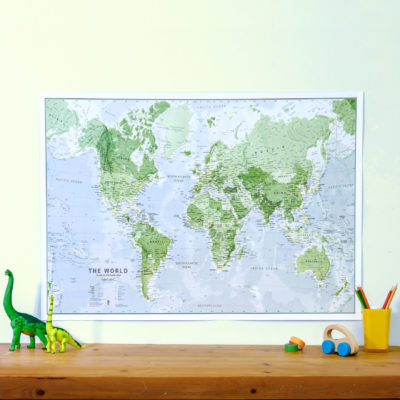 Glow in the Dark World Map
