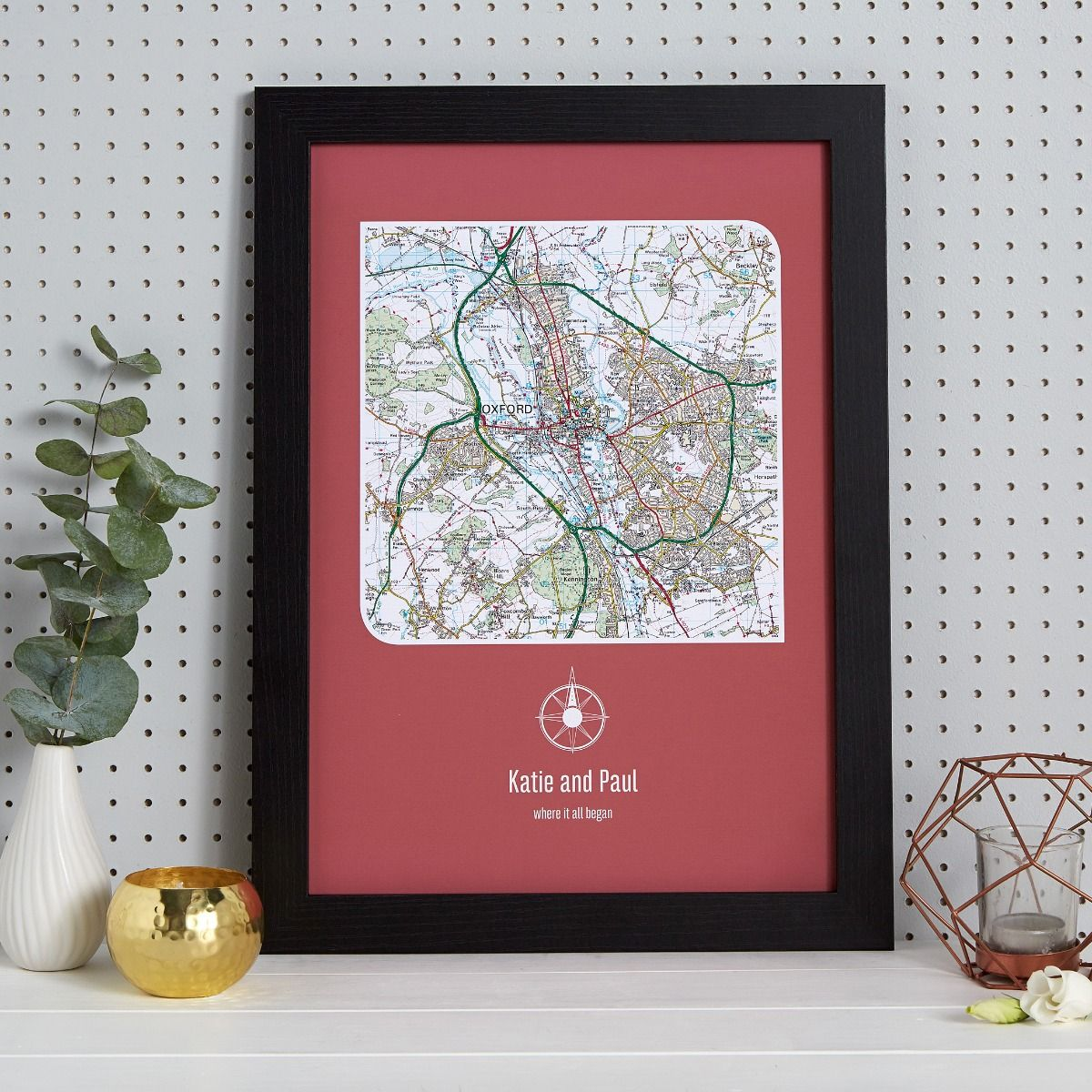 personalised uk postcode map image