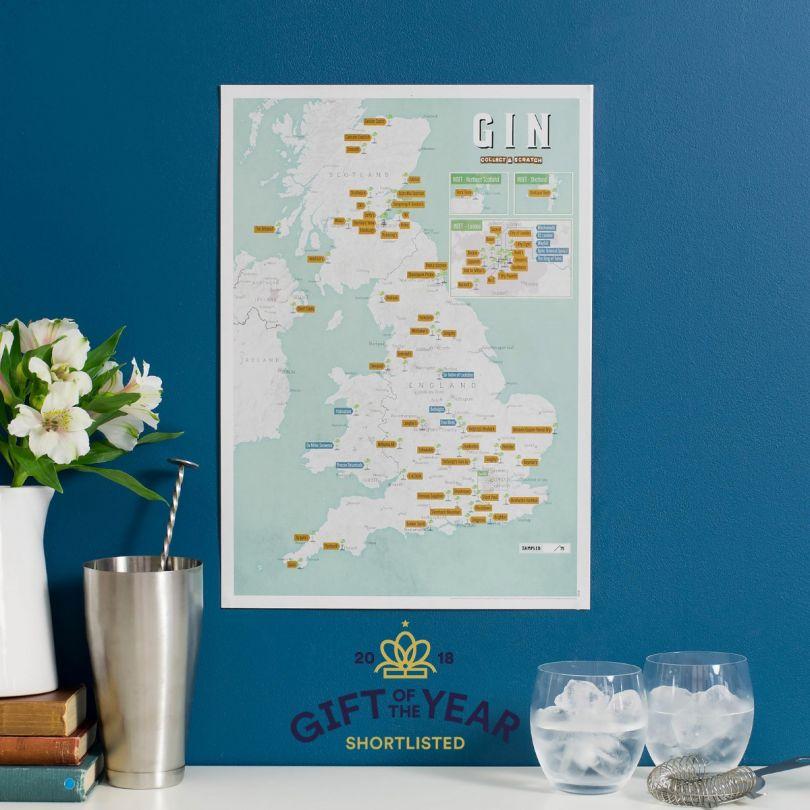Gin distilleries Map Print