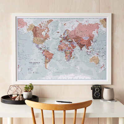 Executive World Map print