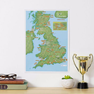 Christmas Gifts - Scratch Off UK Golf Courses