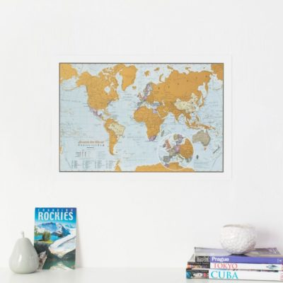 Scratch The World Travel Edition map print