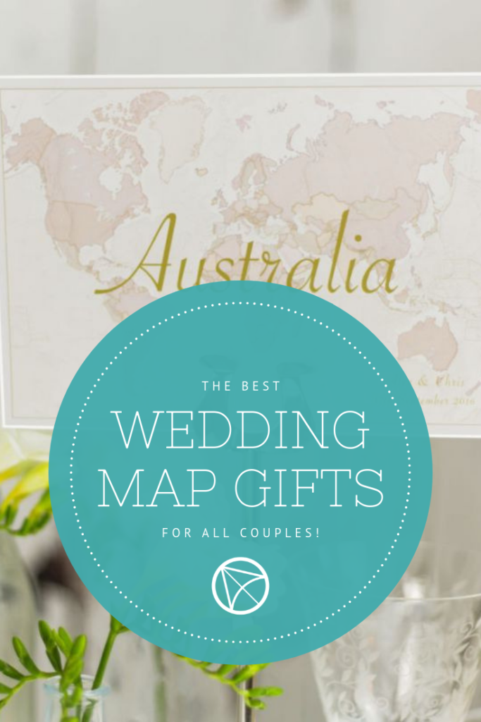 Wedding Map Gifts - Pinterest Image