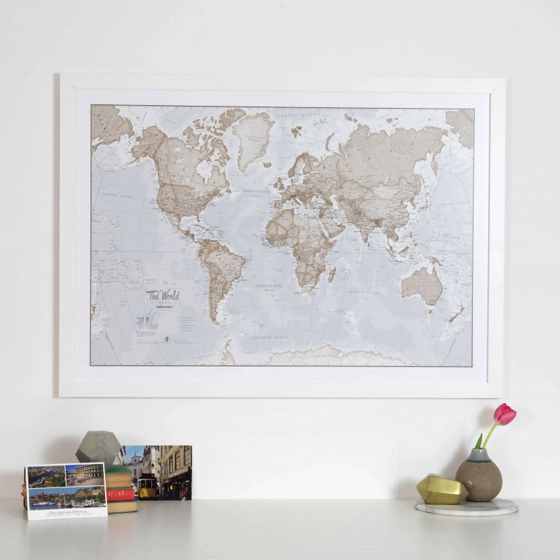 The World is Art Neutral Wall Map image