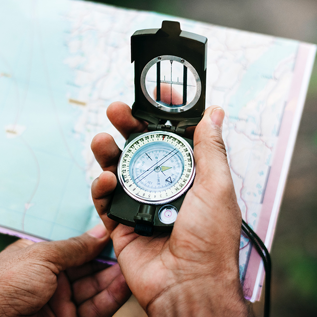 Navigating with compass image