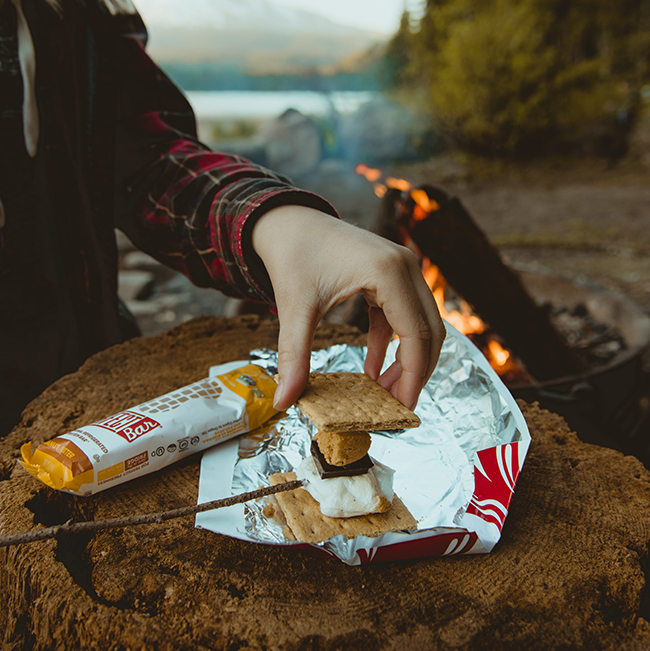 Snack bar while camping image
