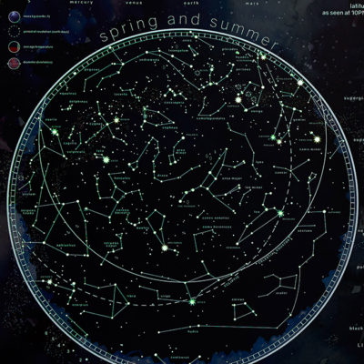 Stars and Constellations map glow in the dark image