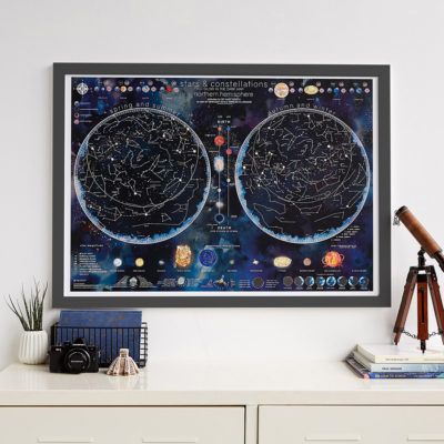 Stars and Constellations Glow map image
