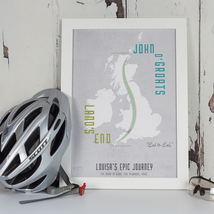 Lands End to John O Groats Map Image