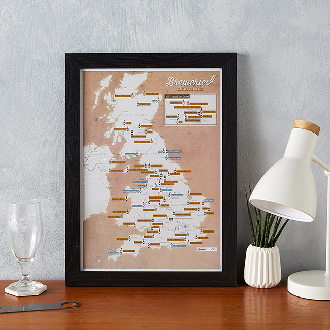 christmas gift guide for men -UK breweries map image