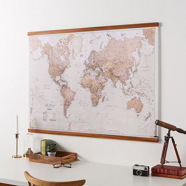 Christmas Gift Guide for Men - antique world map image