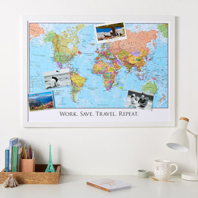 Christmas gift guide for Men - Political world map personalised image