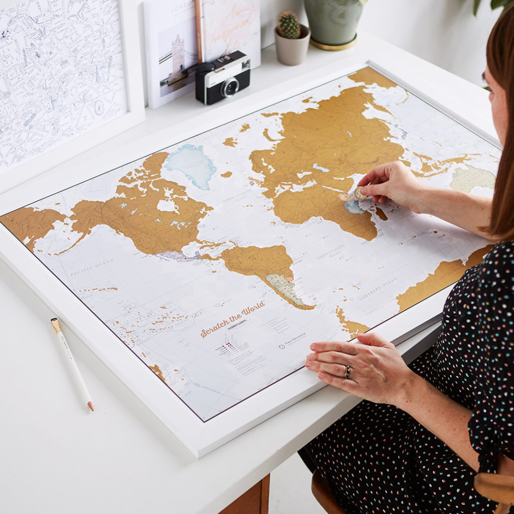 Scratch the World Map Print - image