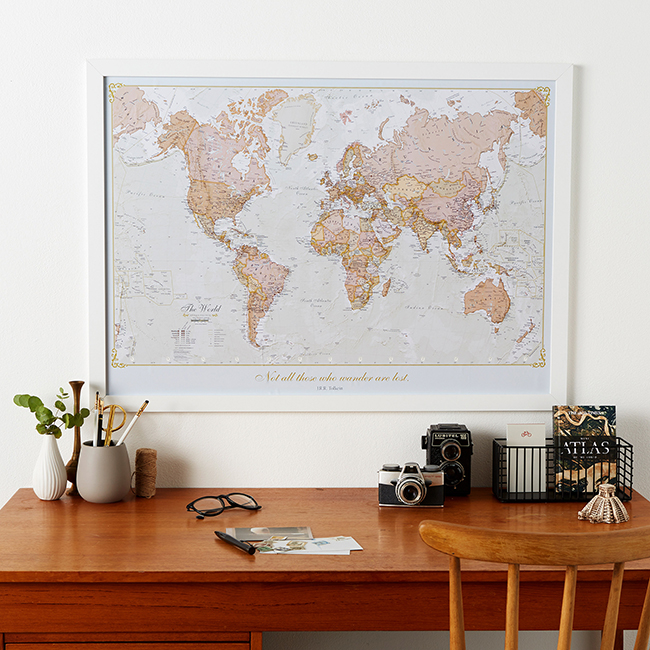 Personalised Antique World Map - image