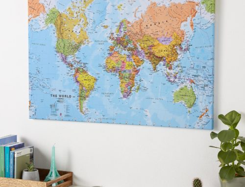 3 Ways a Canvas World Map can make your room extra special