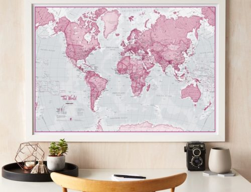 3 colourful wall map styles that will make your work from home hours brighter