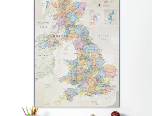 10 Wall Maps to help beat the Winter Blues
