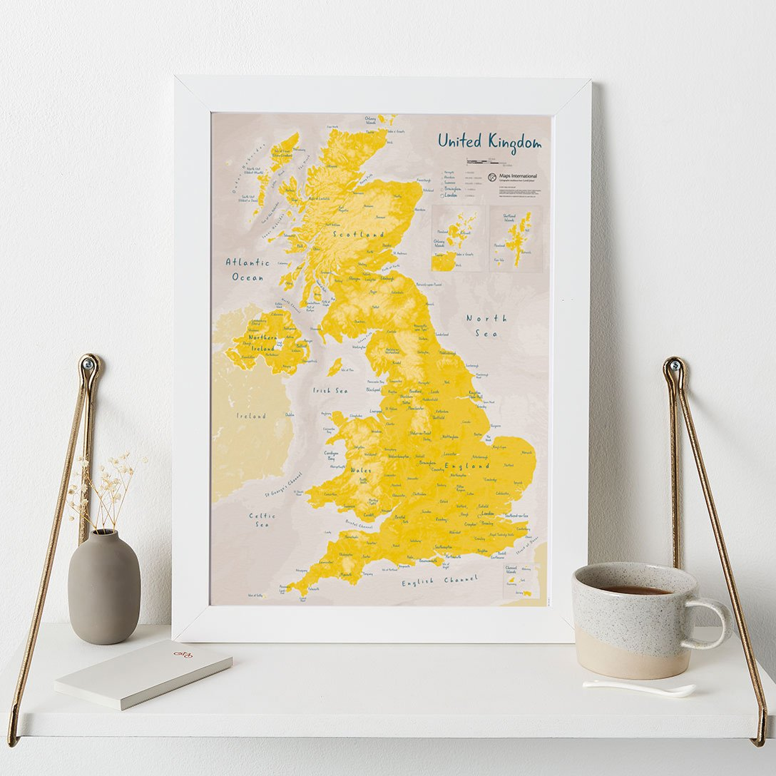 Uk as Art Daffodil in White Frame - image