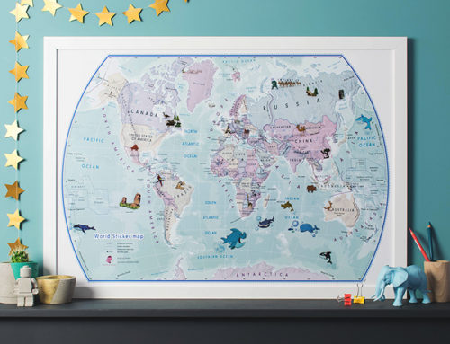 Pick a World Map for Kids' Bedrooms to help spark a love for Travel!