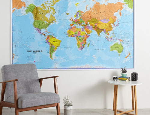 Large World Map Styles you cannot do without in Spring and Summer