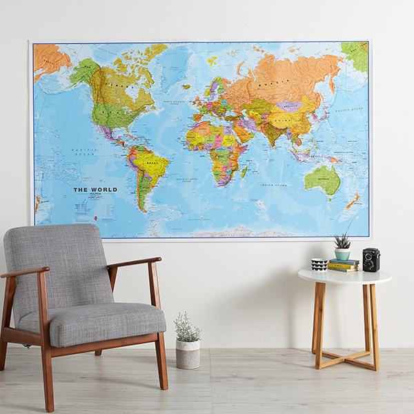 World Map Poster - Huge World Wall Map Political Image