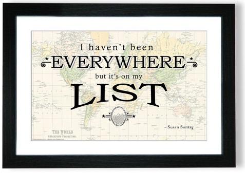 Quote Map Prints