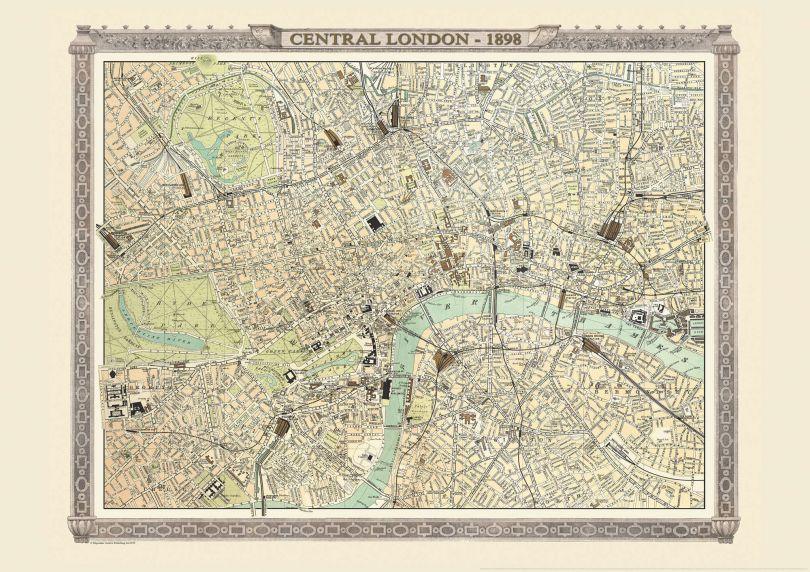 Vintage World Map Blog - Map of London image