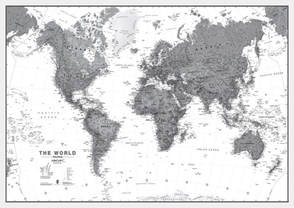 World-wall-map-political-black-white