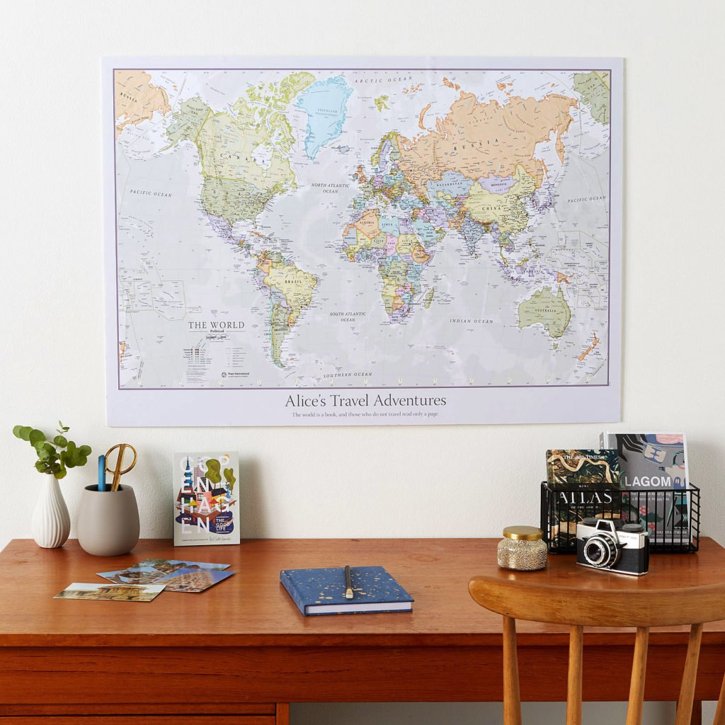 Personalised Classic World Map image