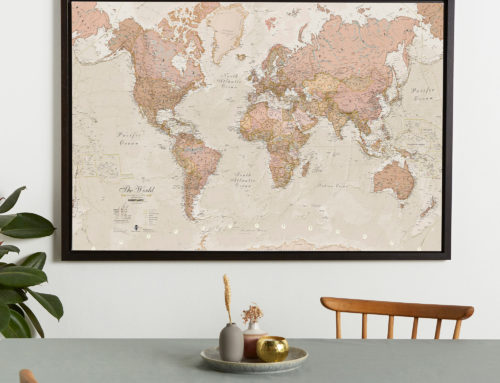 Framed World Maps to make your Home a bit more Autumnal!