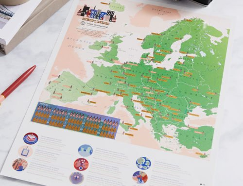 Introducing the ALL NEW Scratch Off European City Breaks Map Print