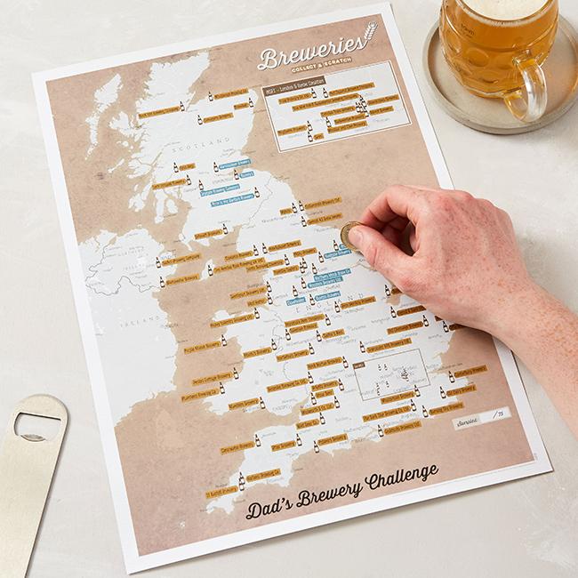 Personalised Maps - UK Breweries Print