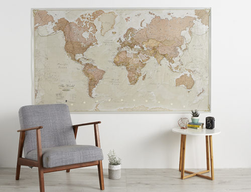 World Map Poster inspiration to make your house feel more like home!