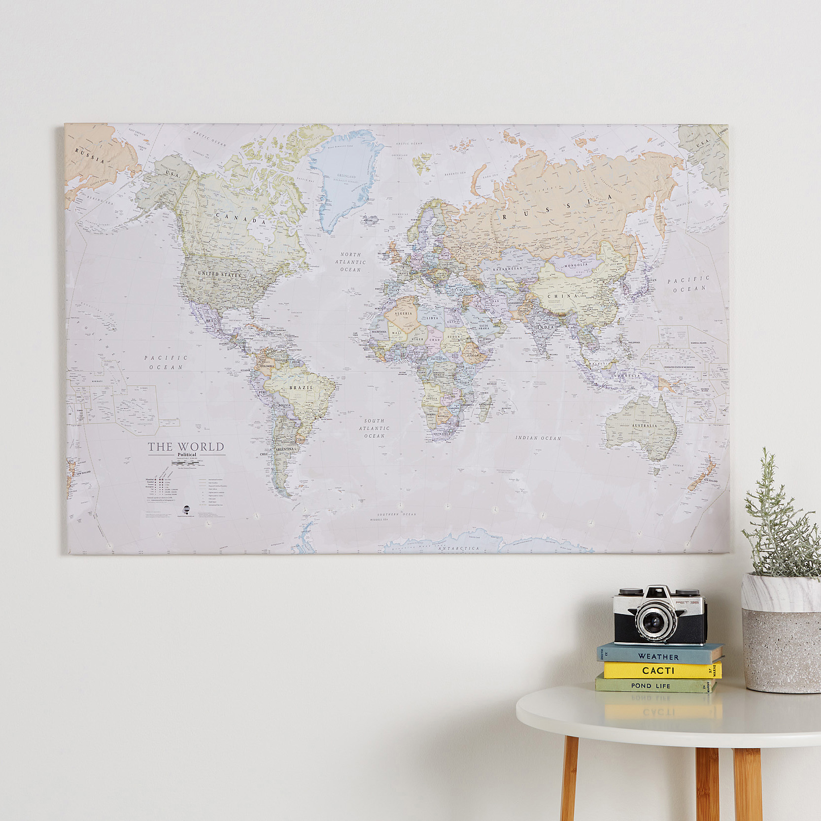Canvas World Map - Classic World Map Canvas